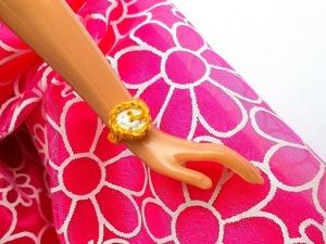 Вяжем крючком наручные часы для куклы Барби. Ярмарка Мастеров - ручная работа, handmade.