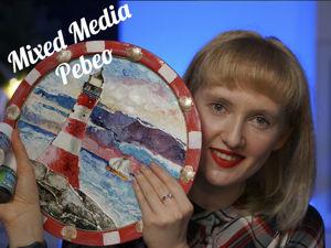 Учимся работать в технике росписи Mixed Media. Ярмарка Мастеров - ручная работа, handmade.
