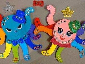 Развивающая игра — шнуровка Осьминожки. Ярмарка Мастеров - ручная работа, handmade.