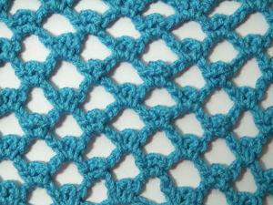 Вяжем узор ажурной сеткой крючком для начинающих. Ярмарка Мастеров - ручная работа, handmade.