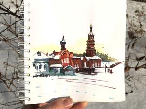 Авторские открытки для Боровска. Ярмарка Мастеров - ручная работа, handmade.