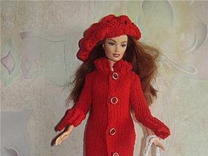 Вяжем пальто для Барби. Ярмарка Мастеров - ручная работа, handmade.