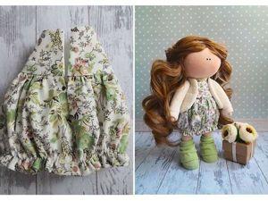 Шьем милое платье для куколки. Ярмарка Мастеров - ручная работа, handmade.