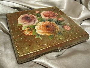 Каменный цветок: декорируем шкатулку. Ярмарка Мастеров - ручная работа, handmade.