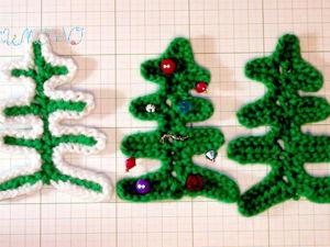 Вяжем спицами новогоднюю елочку: видео мастер-класс. Ярмарка Мастеров - ручная работа, handmade.