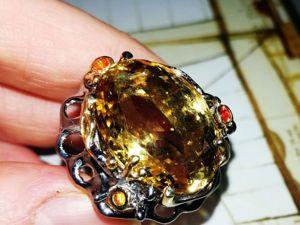 Кольцо  «Сладкая жизнь»  природный цитрин. Ярмарка Мастеров - ручная работа, handmade.