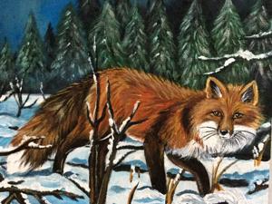 Аукцион на Набор Купонов  «Forest Fox». Ручная роспись. Ярмарка Мастеров - ручная работа, handmade.