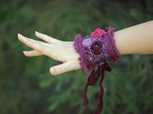 Браслет  «В лиловых отблесках рассвета»  для Елены. Ярмарка Мастеров - ручная работа, handmade.
