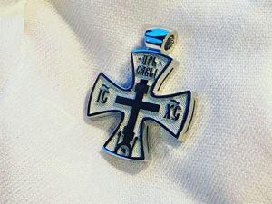 Крест из белого золота. Ярмарка Мастеров - ручная работа, handmade.