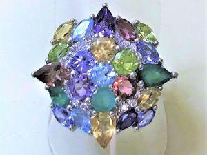 Видеоролик: Серебряное  кольцо с натуральными камнями  «Сирена». Ярмарка Мастеров - ручная работа, handmade.