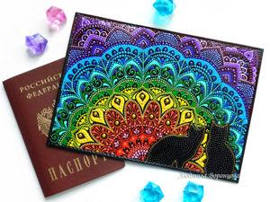 Мастер-класс: Украшаем обложку для паспорта яркой росписью. Ярмарка Мастеров - ручная работа, handmade.