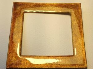 Как сделать «янтарную» рамочку для вырубного окошка. Ярмарка Мастеров - ручная работа, handmade.