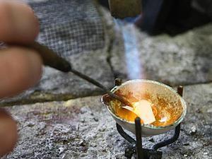Изготовление припоя и ювелирная пайка кольца. Ярмарка Мастеров - ручная работа, handmade.