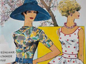 Журнал Мод — Frohne Modelle   -Весна — лето- 1968. Ярмарка Мастеров - ручная работа, handmade.