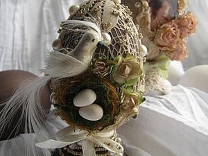 Декорирование Пасхального яичка в винтажном стиле. Смешанная техника.. Ярмарка Мастеров - ручная работа, handmade.