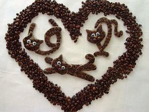 """Кофейные магниты """"Кот КОФЕич"""". Ярмарка Мастеров - ручная работа, handmade."""