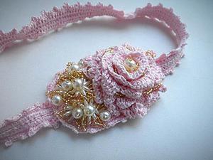 Создаём вязаную повязку-ободок на голову. Ярмарка Мастеров - ручная работа, handmade.
