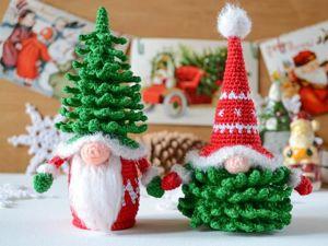 Удивительные рождественские скандинавские гномы — идеи для вязания крючком и вдохновения. Ярмарка Мастеров - ручная работа, handmade.
