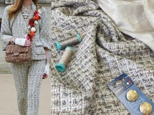 НОВИНКА! Костюмная ткань с люрексом. Ярмарка Мастеров - ручная работа, handmade.