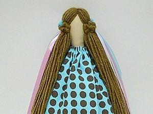 Делаем прическу для тильды из пряжи. Ярмарка Мастеров - ручная работа, handmade.