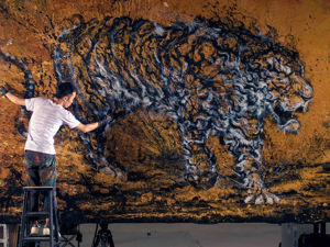 «Взрывные картины»: необычная техника рисования брызгами красок от Чен Йингжи. Ярмарка Мастеров - ручная работа, handmade.