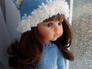 Как связать шапку с помпоном для кукол Паола Рейна, 34 см. Ярмарка Мастеров - ручная работа, handmade.