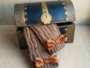 А у нас новинка! Митенки  «Шоколад и карамель» !. Ярмарка Мастеров - ручная работа, handmade.