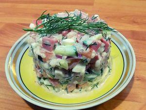 Салат из колбасы с рисом. Ярмарка Мастеров - ручная работа, handmade.
