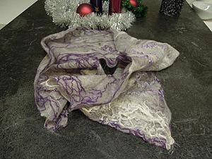 Валяем шарфик-паутинку. Ярмарка Мастеров - ручная работа, handmade.
