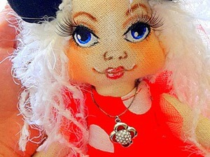 Роспись лица текстильной куклы. Ярмарка Мастеров - ручная работа, handmade.
