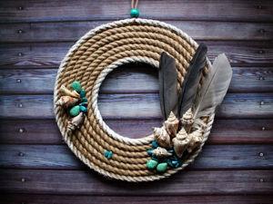 Мастерим венок из ракушек, камней и перьев. Ярмарка Мастеров - ручная работа, handmade.
