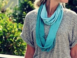 Быстро и просто создаем летний шарф: 6 отличных идей изготовления стильного аксессуара. Ярмарка Мастеров - ручная работа, handmade.