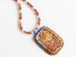 Кулоны с натуральными российскими камнями. Ярмарка Мастеров - ручная работа, handmade.