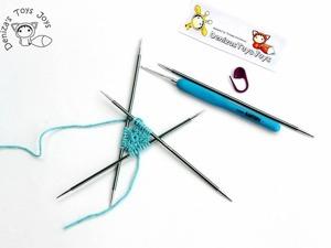 Видео мастер-класс: набор петель крючком для кругового вязания на спицах. Ярмарка Мастеров - ручная работа, handmade.