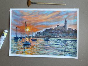 Средиземноморский пейзаж. Ярмарка Мастеров - ручная работа, handmade.