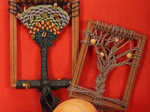 How to Weave Trees into Frames. Livemaster - handmade