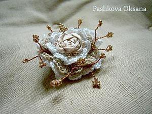 """Создание броши """"Молочная роза"""". Ярмарка Мастеров - ручная работа, handmade."""