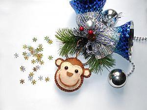 Делаем обезьянку из фетра легко и быстро (подвеска или магнит на холодильник). Ярмарка Мастеров - ручная работа, handmade.