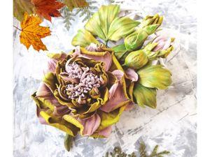 Видеопрезентация броши  «Осенняя мелодия». Ярмарка Мастеров - ручная работа, handmade.