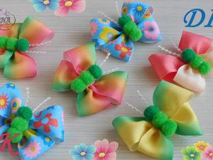 Делаем бабочки-бантики из репсовых лент: видео мастер-класс. Ярмарка Мастеров - ручная работа, handmade.