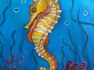 Сказка моря. Цикл Экзотические рыбки. Морской конек. Ярмарка Мастеров - ручная работа, handmade.