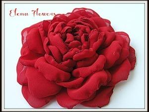 Роза из шифона Мастер класс от Elena Flowers. Ярмарка Мастеров - ручная работа, handmade.