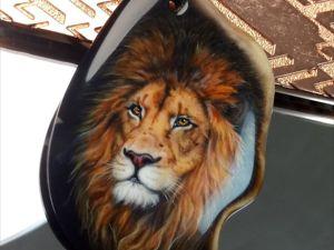 Подвеска Лев для создания украшений – лаковая ювелирная живопись. Ярмарка Мастеров - ручная работа, handmade.