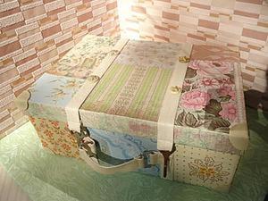 Винтажный чемодан своими руками. Ярмарка Мастеров - ручная работа, handmade.