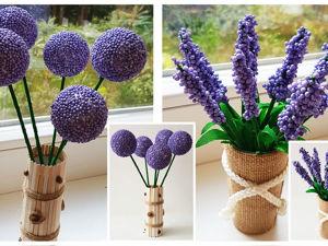 Видеоурок: легко и быстро делаем лаванду и другие цветочки. Ярмарка Мастеров - ручная работа, handmade.
