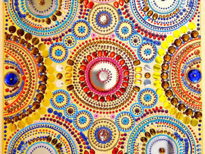 Яркая объемная картина из страз Калейдоскоп. Ярмарка Мастеров - ручная работа, handmade.