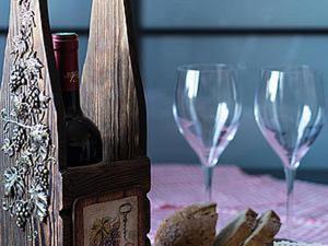 Мастер-класс: декорируем винный короб «Виноградная лоза». Ярмарка Мастеров - ручная работа, handmade.