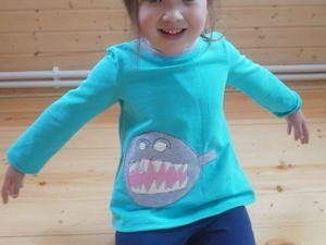 Делаем аппликацию из лоскутков по детскому рисунку. Ярмарка Мастеров - ручная работа, handmade.