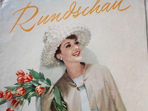 Rundschau  —  журнал для швеи  -Май  1961. Ярмарка Мастеров - ручная работа, handmade.