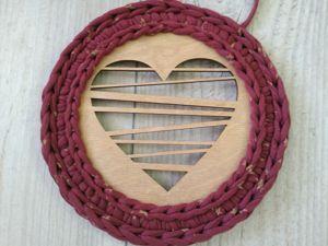 Обвязываем деревянное донышко без швов. Ярмарка Мастеров - ручная работа, handmade.